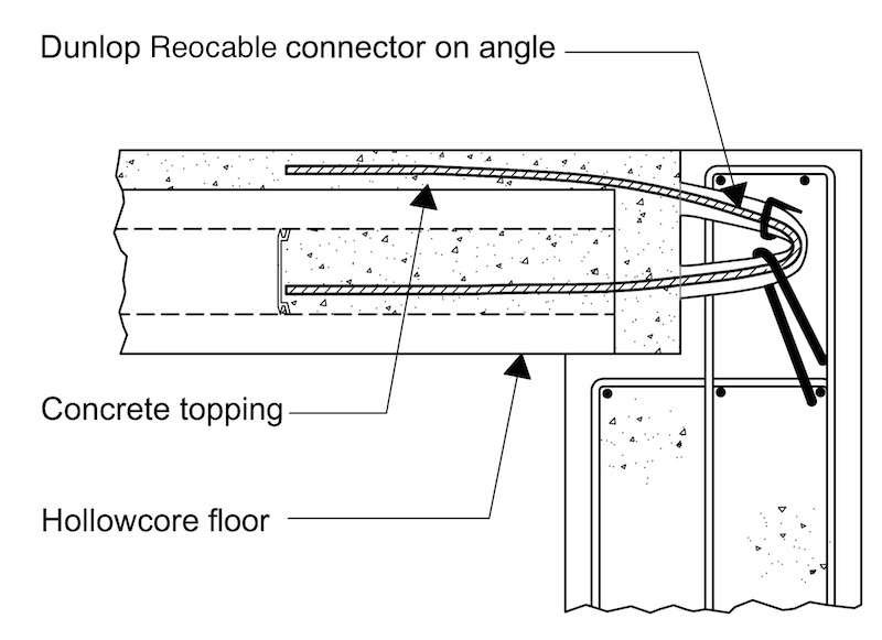 dunlop reocable connector for precast reinforced concrete